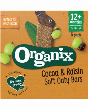 Cocoa & Raisin Oaty Bars 6x30g